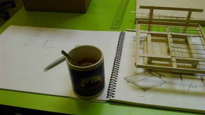 miniatuur & ontwerptekening van design bed